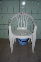 WC - židle plastová